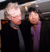 Yours truly and Ronnie Wood